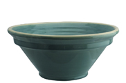 Blue grey large ribbed bowl montgri